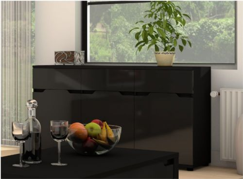 Aspen Black Gloss Sideboard - 2588